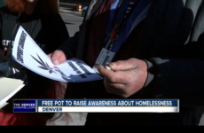 Charity gives free joints to homeless people on Christmas Eve