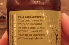 This might be the most honest beer bottle blurb ever