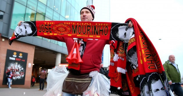 Jose Mourinho scarves on sale outside Old Trafford ahead of Man United's clash with Chelsea