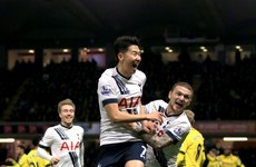 Tottenham gave their top four hopes a big boost with a late win today