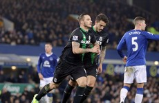 Injury-time penalty hands Stoke victory in 7 goal thriller with Everton
