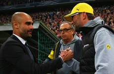 Klopp hails Guardiola as 'perhaps the best coach in the world'