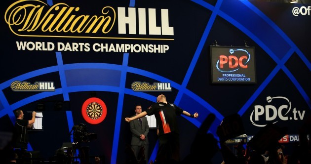 Brilliant Barney goes wild after sending van Gerwen packing in Ally Pally classic