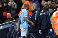 Blow for Man City as captain Kompany ruled out with another injury