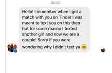 An Irish lad just sent the smuggest message ever to a girl he matched with on Tinder