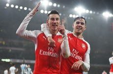 Koscielny strike fires Gunners two points clear at top of the table