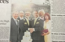 Criticism for Labour ad showing Gerry Adams and Micheál Martin as gay couple on wedding day