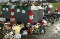 The bottle banks around Ireland after Christmas are quite a sight