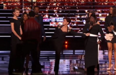 Sharon Osbourne kicked a stage intruder up the arse at the People's Choice… it's the Dredge