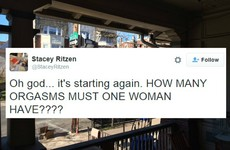 A woman live-tweeted her neighbour having ridiculously loud sex