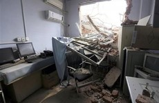 Bulldozers demolish part of hospital with patients still inside