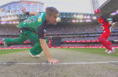Run out by a nose! The most bizarre and painful dismissal you're likely to see