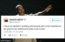 People are taking the piss out of Kanye West's mysterious late night tweet