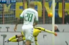 Italian goalkeeper pulls off a ridiculous save as Sassuolo shock leaders Inter