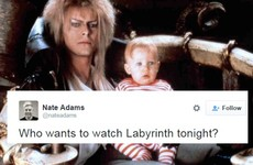 Lots of people are planning to watch David Bowie in Labyrinth tonight
