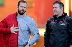 That was quick! Andy Farrell is already at his first Munster training session
