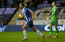 Referee unwittingly provides assist for Wigan goal