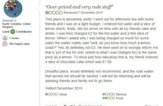 This café's masterful response to a snotty TripAdvisor review is going viral