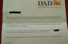 A kid asked for more pocket money and received an official letter from the Bank of Dad