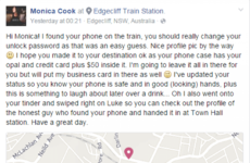 A man found a woman's lost phone and swiped right for himself on her Tinder