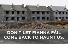 Fine Gael has a go at Fianna Fáil over ghost estates