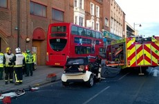 Nine injured in crash between car and double decker bus