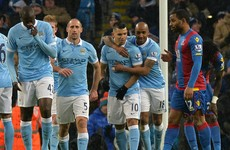 Aguero's double sees Man City thrash Palace and return to the top of the table
