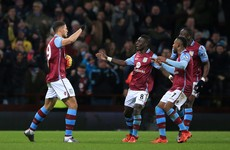 Gestede helps lowly Villa dent Leicester's title bid after Mahrez penalty miss