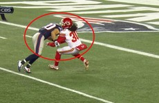 Patriots' Danny Amendola unleashed a dirty hit on a Chiefs player, and there was practically no penalty