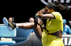 Serena Williams plays shot AROUND the net in Australian Open win