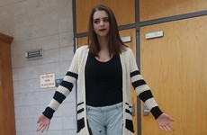 A girl was forced to miss a school test because her outfit was 'too distracting'
