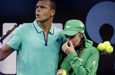 French tennis star stopped his Australian Open match to help an injured ball girl
