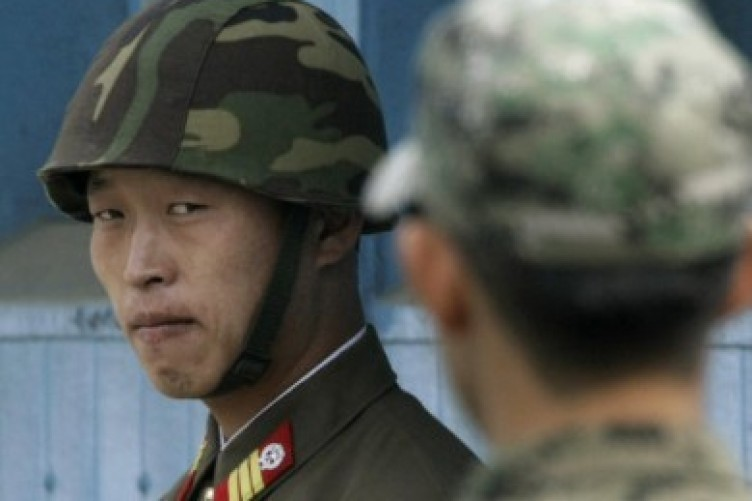 A North Korean soldier pictured stationed at the border in 2010