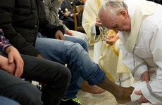 Pope changes rule to allow women have their feet washed on Holy Thursday