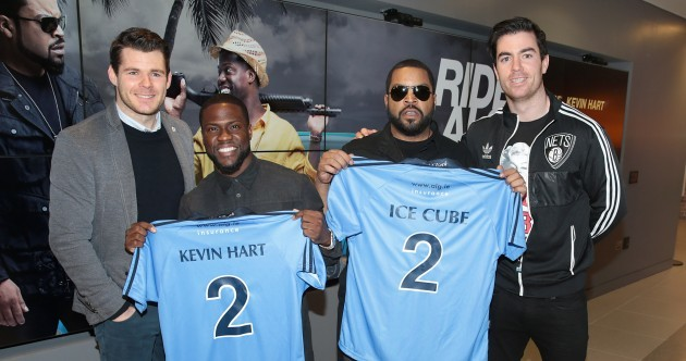 N.W.Átha Cliath – Ice Cube is now the proud owner of a Dublin jersey