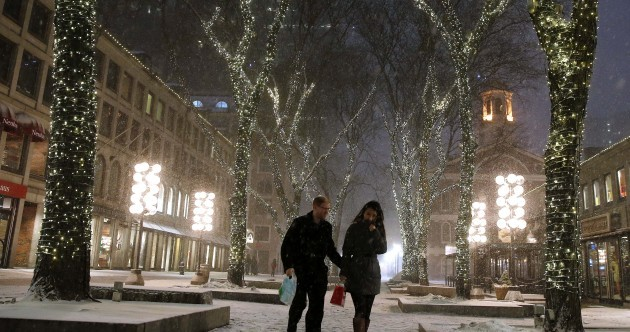 Snow has ground the east of the US to a halt