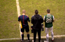 Ireland's Anthony Stokes got his Hibs debut off to the best possible start yesterday