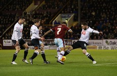 Richard Keogh had a night to forget against Burnley