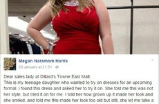 A mam called out a shop assistant for saying her daughter should wear Spanx