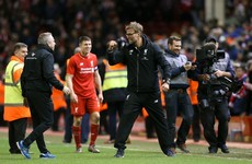 Klopp: I couldn't see the penalties, I'll have to watch them at home