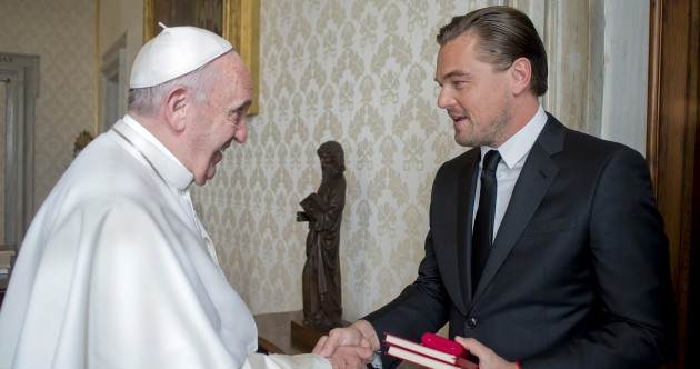 WATCH: Leonardo DiCaprio met the Pope and chatted to him in Italian