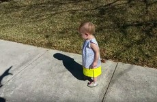 This little girl getting scared of her dad's shadow is just so adorable