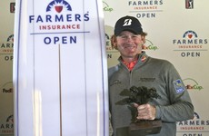 Dunne, Lowry share 13th as Snedeker wins Farmers title without hitting another shot