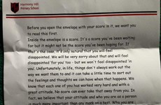 An Antrim primary school sent this lovely letter to its students with their exam results