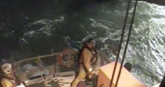Watch: Fishermen rescued from stricken trawler off Dublin in 3am call-out