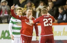 Former Ireland U21 winger with a stunning goal as Dons beat Celtic