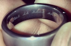 The internet adores this woman's inscription on her husband's wedding ring