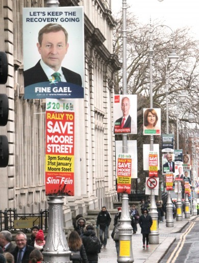 Here's what our political parties have spent on election posters *
