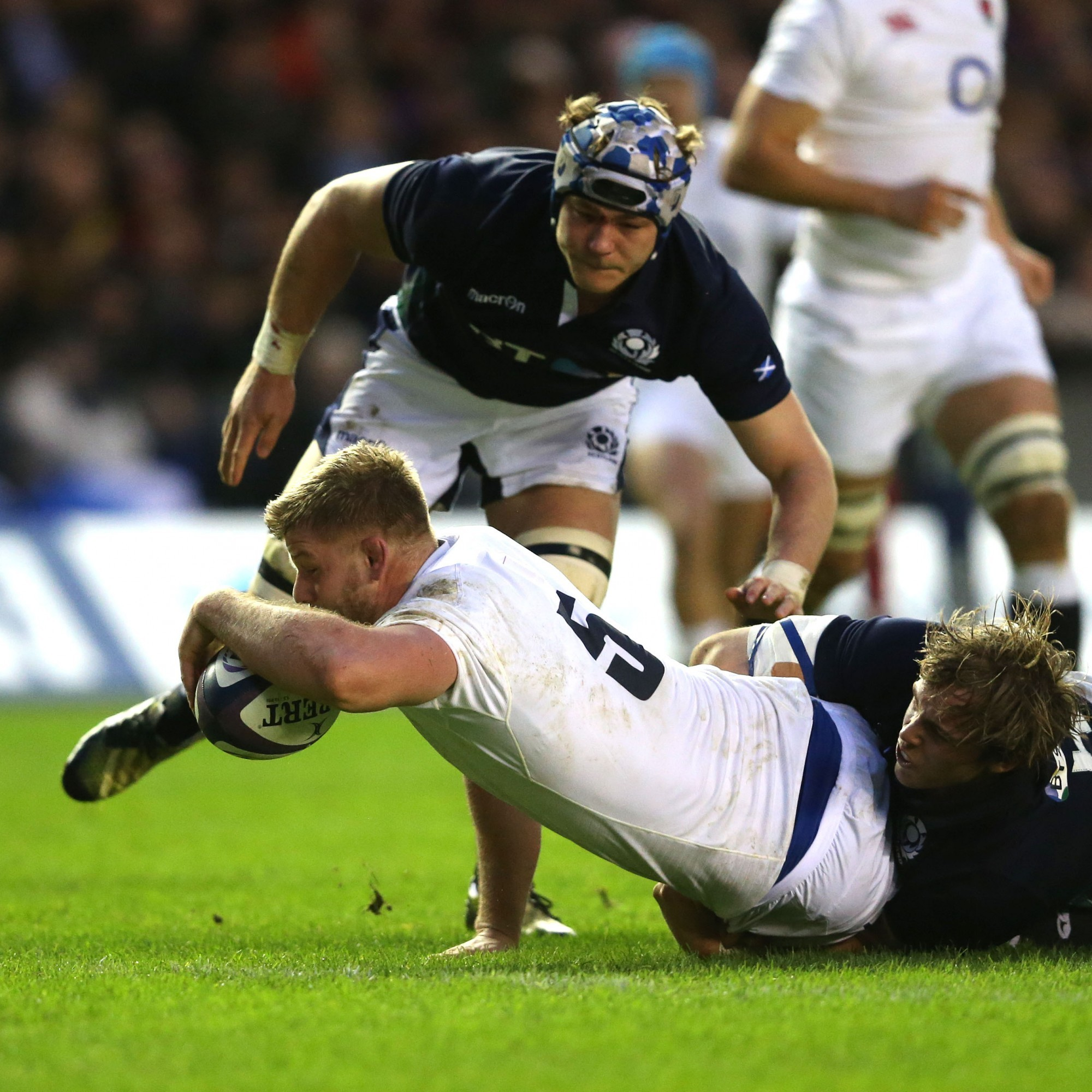 The first try of England's Eddie Jones era was extremely direct