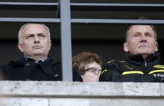 Dortmund coach plays down rumours as Jose Mourinho spotted at game